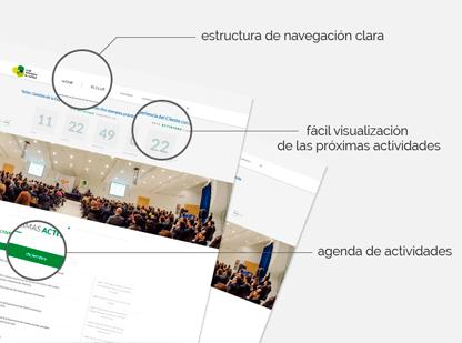 Previsualización de las características de la web del Club de Calidad