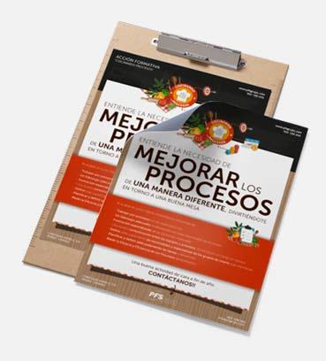 Flyers para la mejora de los procesos con Cocinando Procesos