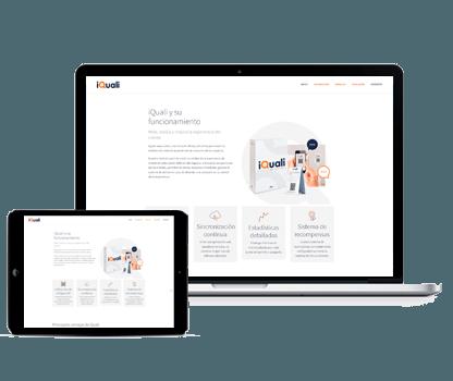 Previsualización de la web del producto iQuali
