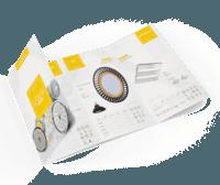 Catálogo del producto creado para acrux led